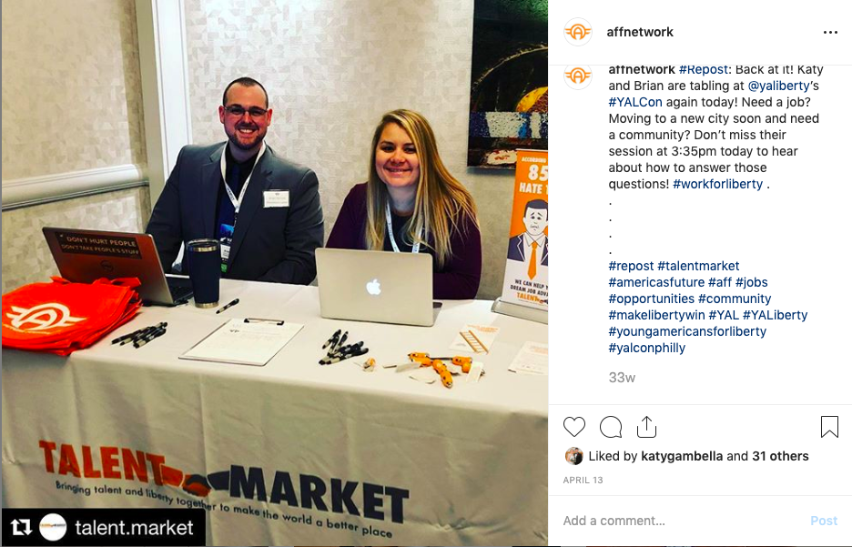 Talent Market and AFF at conference